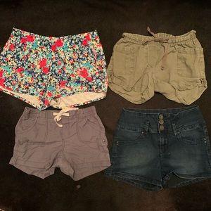 4 pairs of short xs/small